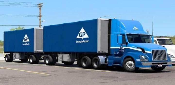Photo of Truck & Trailer Skins Super Mega-Pack (Georgia-Pacific) V1.0 ATS 1.41