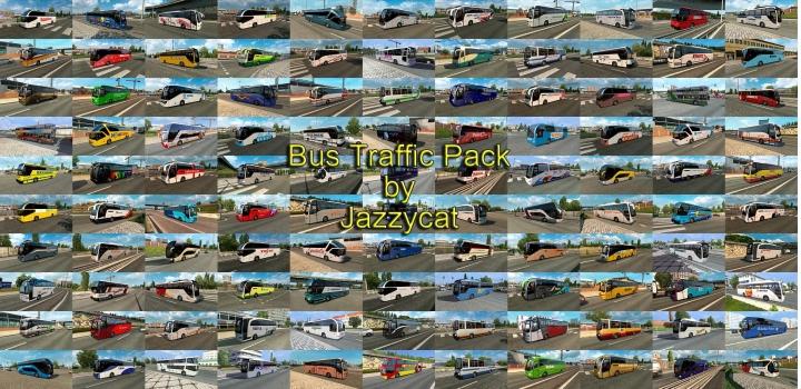 Photo of Bus Traffic Pack V12.0.1 ETS2 1.41