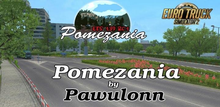 Photo of Pomezania Map 1:1 V1.3 ETS2 1.41
