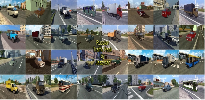 Photo of Russian Traffic Pack V3.1.4 ETS2 1.41