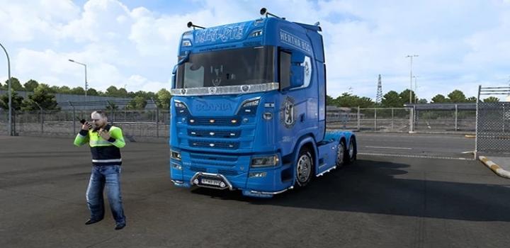 Photo of Scania S Hertha Bsc Paintjob V1.0 ETS2 1.41