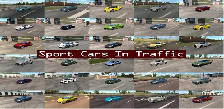 Photo of Sport Cars Traffic Pack V8.6.2 ETS2 1.41