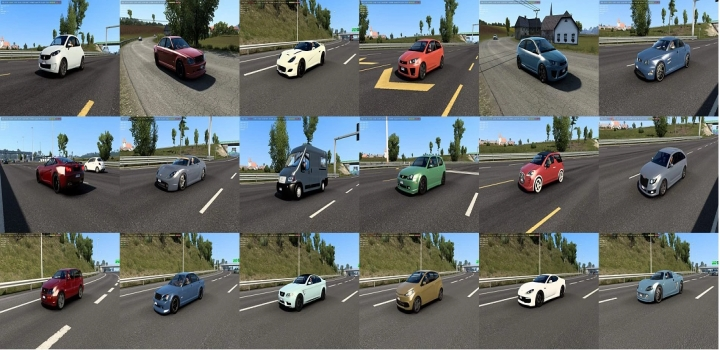 Photo of Traffic Pack With Cars From Burnout Paradise, Watch Dogs, Just Cause 3 ETS2 1.41