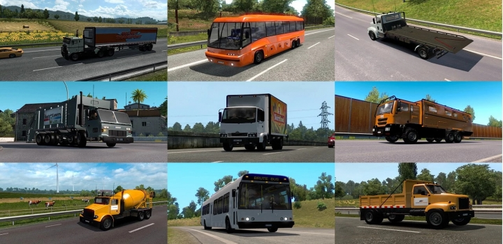 Photo of Traffic Pack With Trucks And Buses From Gta 5 ETS2 1.41