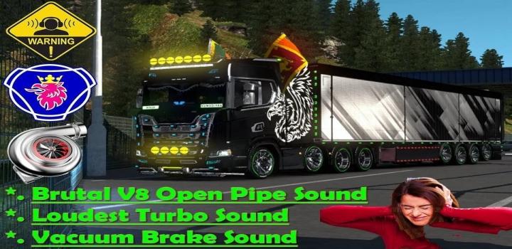 Photo of V8 Open Pipe Brutal Sound V1.0 ETS2 1.41