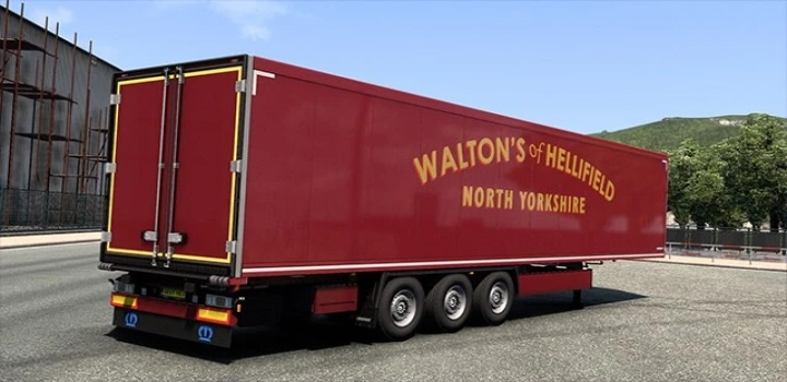 Photo of Waltons Of Hellifield Scania S & Trailer Paint Job V1.0 ETS2 1.41
