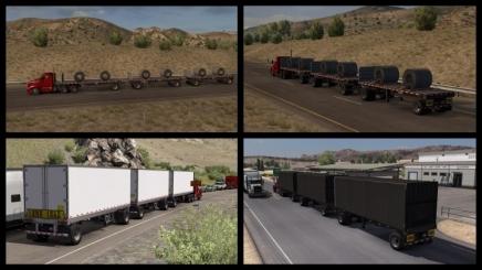Photo of Original Scs Trailers In Traffic ATS (1.41)