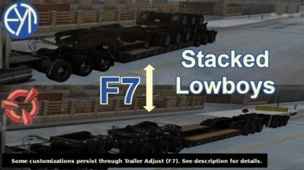 Photo of Stacked Scs Lowboy Trailers V1.3 ATS (1.41)