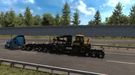 Photo of Multiple Trailers In Traffic ATS (1.42.x)