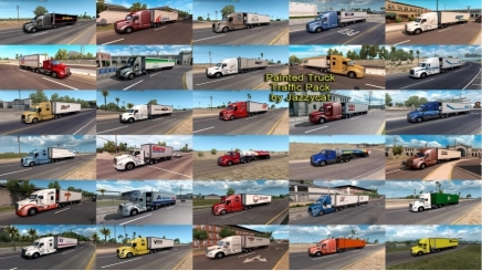 Photo of Painted Truck Traffic Pack V4.4.1 ATS (1.42.x)