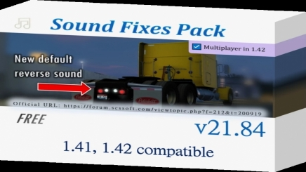Photo of Sound Fixes Pack V21.84 ATS (1.42.x)