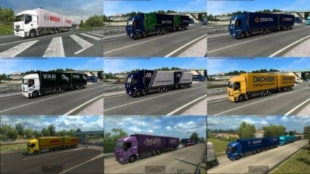 Photo of Ai Tandem Trailers In Traffic Pack V1.1 ETS2 (1.42.x)