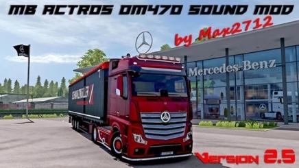 Photo of Mercedes Actros Mp4/Mp5 Om470 Sound V2.5 ETS2 (1.42.x)