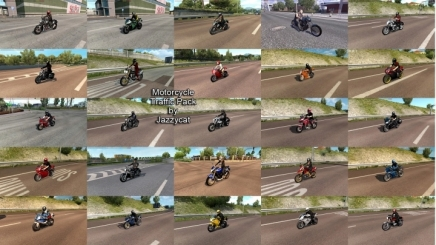 Photo of Motorcycle Traffic Pack V3.9.1 ETS2 (1.42.x)