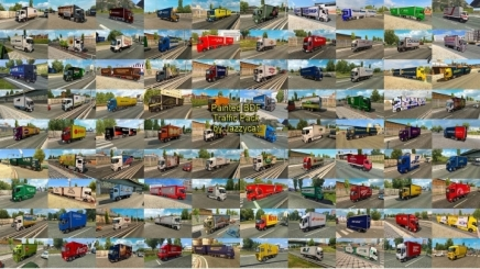 Photo of Painted Bdf Traffic Pack V10.7.1 ETS2 (1.42.x)