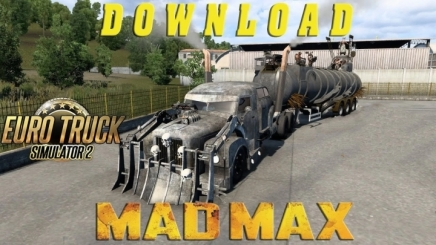 Photo of Scania 111S Madmax Truck + Trailer V1.1 ETS2 (1.42.x)