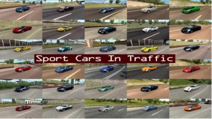 Photo of Sport Cars Traffic Pack V9.2.1 ETS2 (1.42.x)