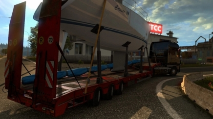 Photo of Steerable Axles For Lowbed Trailer ETS2 (1.42.x)