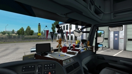 Photo of Table & Wind-Shield Set For Actros Mp3 ETS2 (1.42.x)